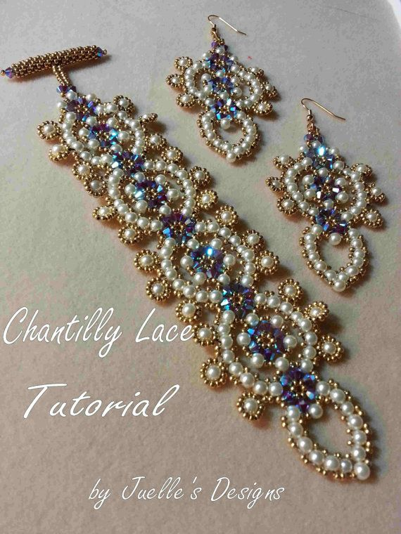 Tutorial  Chantilly Lace Bracelet by JuellesDesigns on Etsy