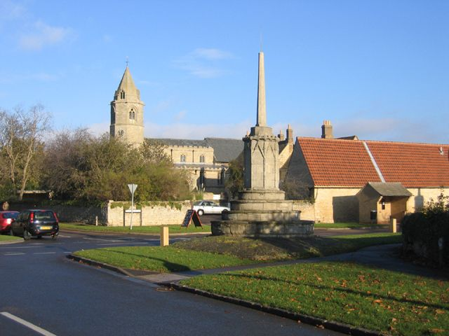 Helpston, Cambridgeshire. John Clare, the 'peasant poet' was born here in 1793: this obelisk is to his memory.