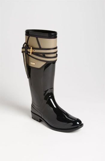 I like these even if it isn't raining. Burberry 'Willesden' Rain Boot (Women) | Nordstrom #shoeoftheday