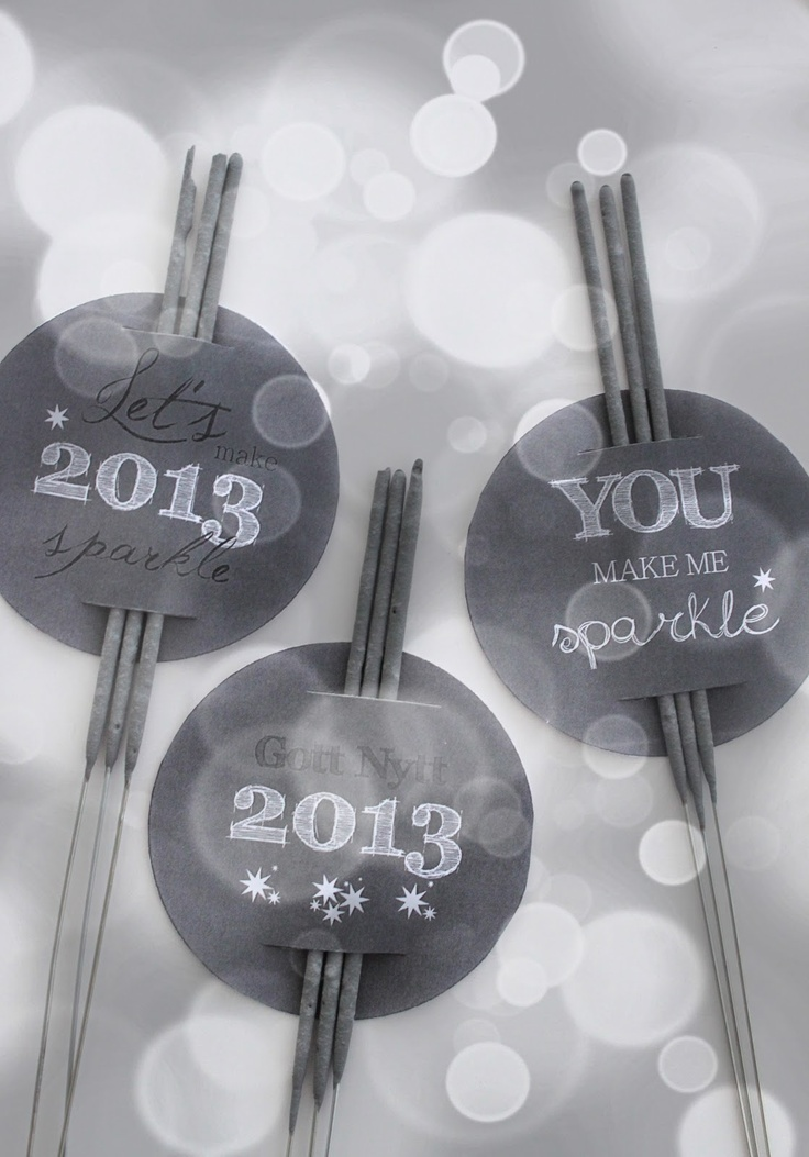 Free printables for the New Year's sparklers - by It's a house