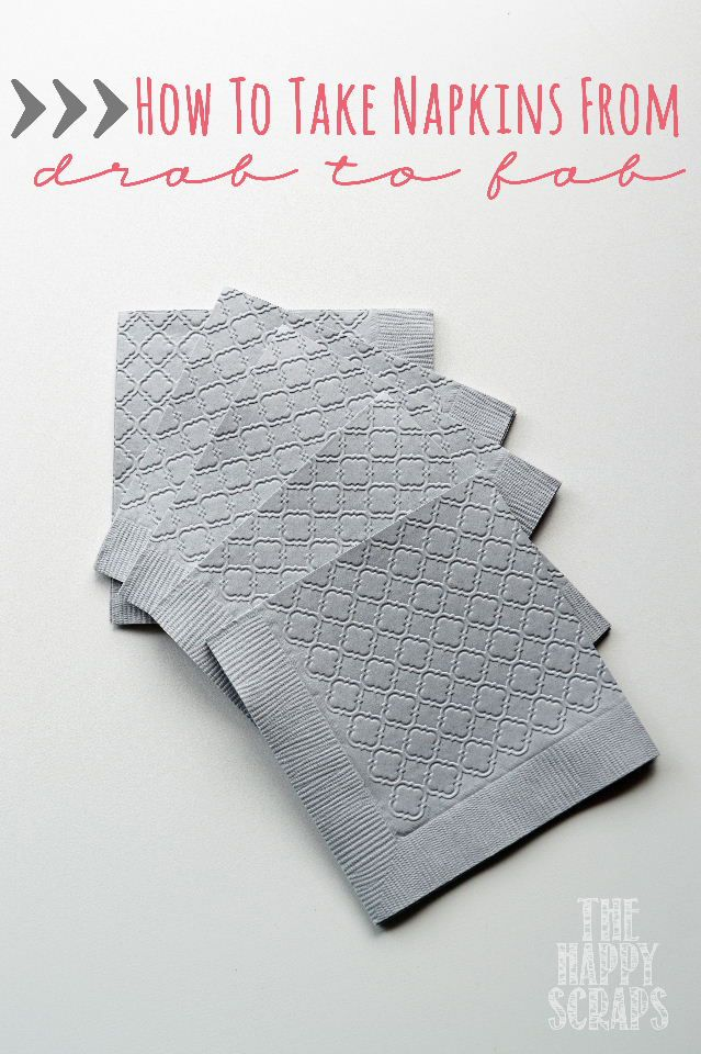 How to take Napkins from Drab to Fab using a Cuttlebug at www.thehappyscraps.com