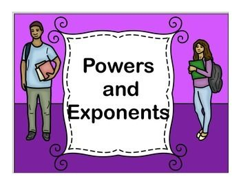 Powers and Exponents practice will help your students master the use of powers and exponents.   These practice problems are a great way for some of your strugglers to get extra practice with these two skills.  This pack includes: •3 practice pages writing exponents with answer keys.  •2 practice pages of writing exponents as a product and then finding value with answer keys.