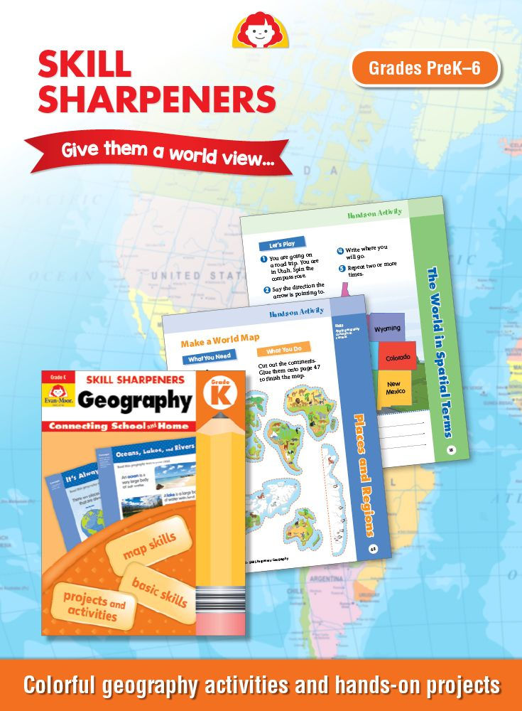 Skill Sharpeners Geography Grade 3 Activity Book Geography