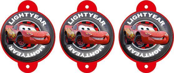 Sorbetes y pajitas personalizadas con Cars / Rayo Mc Queen
