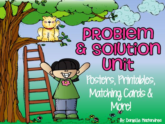 unit posters printables matching cards more problem and solution unit ...