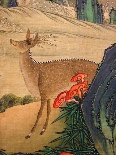 The Ten Symbols of Longevity Korea Late Joseon Period 19th century CE folding silk screen