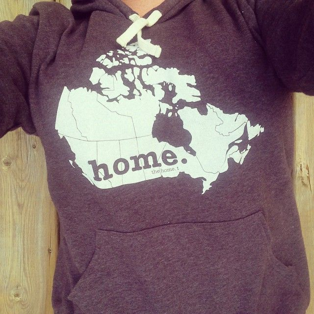Guess what's back?! Everyone's fav HomeT in hoodie form! Perfectly soft and cozy for those cooler nights. #canada #toronto #home #cozy #cottage #fall