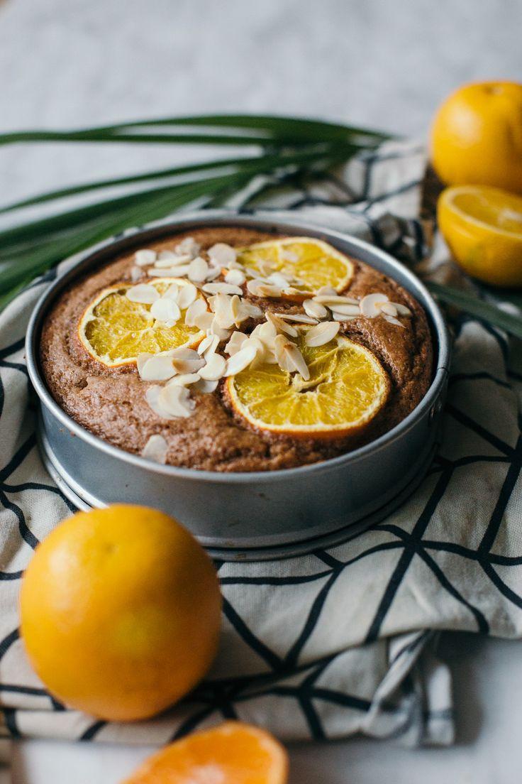 Recept voor vegan speculaascake met sinaasappel en amandel - makkelijk en snel te maken, groot resultaat!