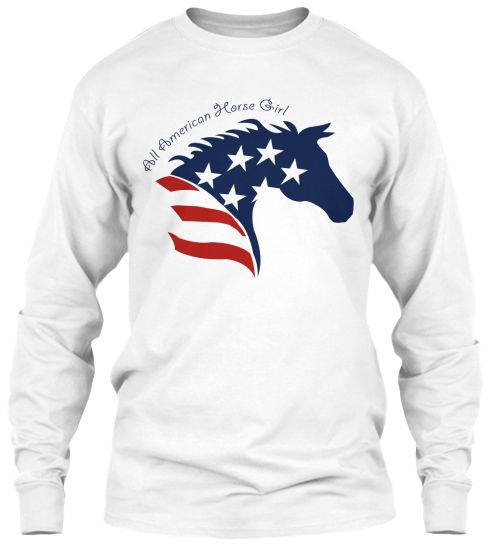 All American Horse Girl Shirts Smart Tee