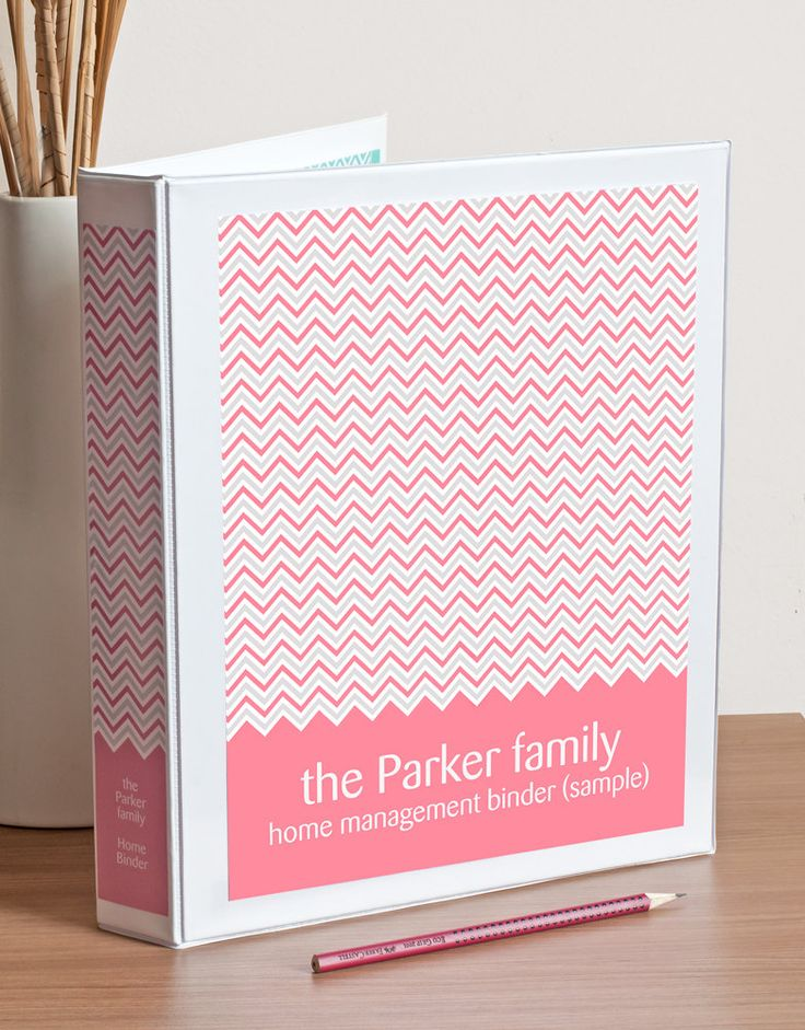 Printable Binder Cover, Spine Inserts and Tabbed Dividers in Chevron, Custom Colors. Editable PDF.