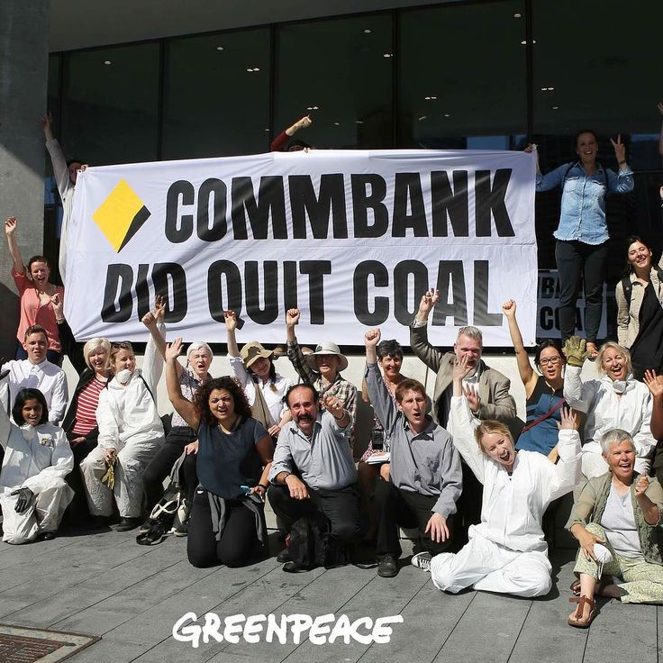BREAKING NEWS: #Commbank is ditching coal!  They just announced that the bank is ruling out future  investments in coal! This is a major blow to the coal industry and a major win for #PeoplePower.  Now its your turn @nab @anz_au @westpac Check out or stories  to find out more. @blondzphoto #activism #action #peoplepower #Commbank #banks #goodnews #coal