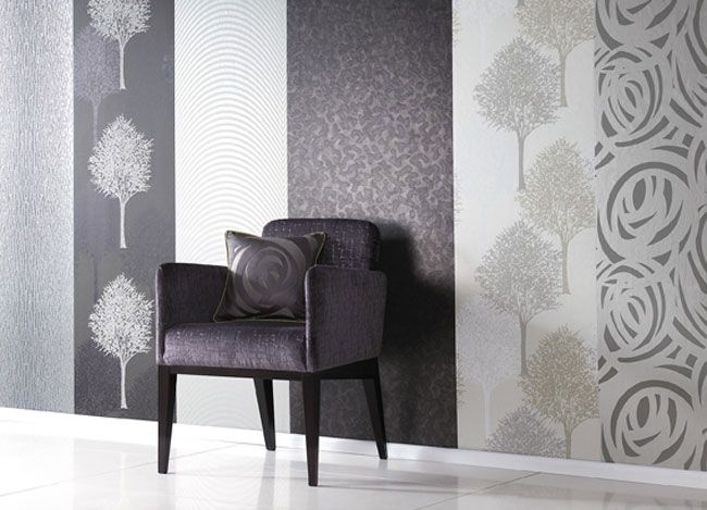 Mix and match wallpaper panels from Harlequin Momentum collection.