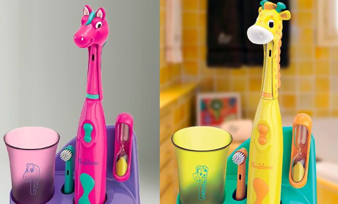 *HOT* $19.99 (Reg $35) Kids Electric Toothbrush Set with Animal Head Cover