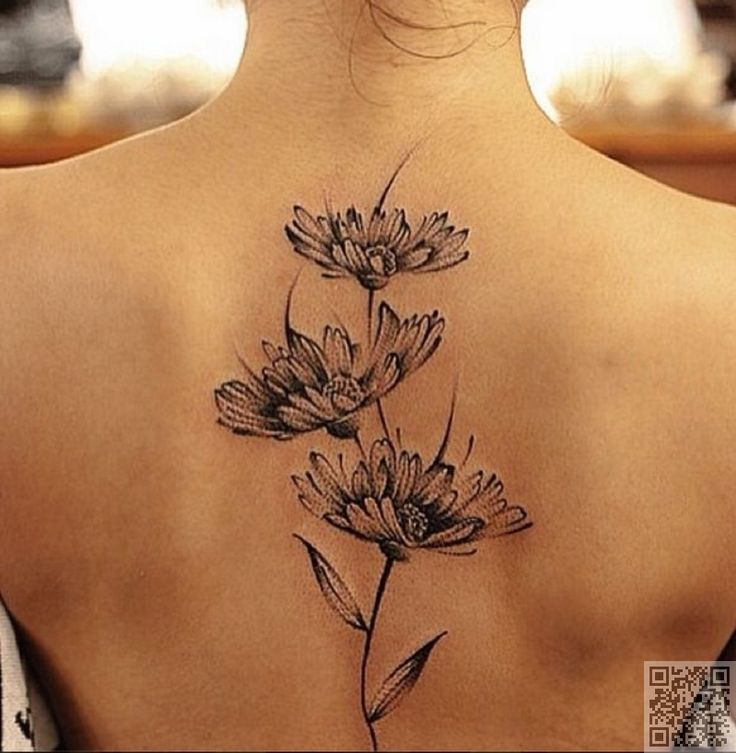 5. On Your Back - 30 #Flower Tattoos That Will Make You Want Some New Ink ... → #Fashion #Simple