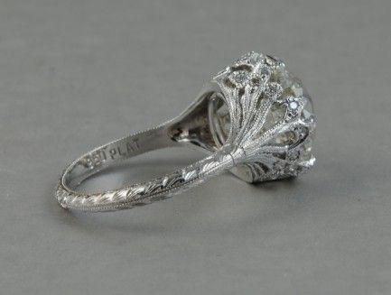 6.06 Carat Old European Diamond Ring in Platinum » Jewelry AtelierJewelry Atelier