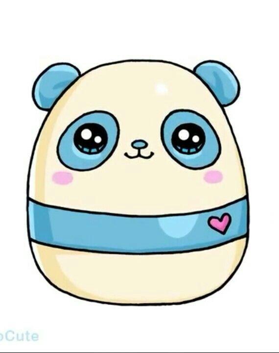 Panda Azul Kawaii Con Imagenes Dibujos Kawaii Dibujos Kawaii