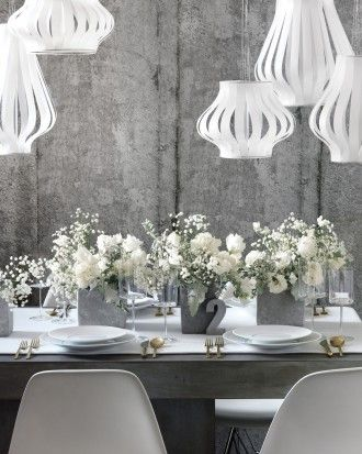 Wedding Colors: White and Gray