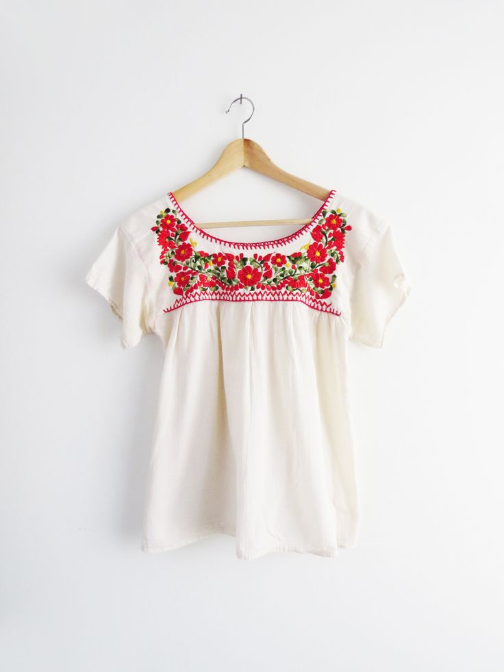 Poppy Embroidered Blouse // Vintage Embroidered Blouse SOLD