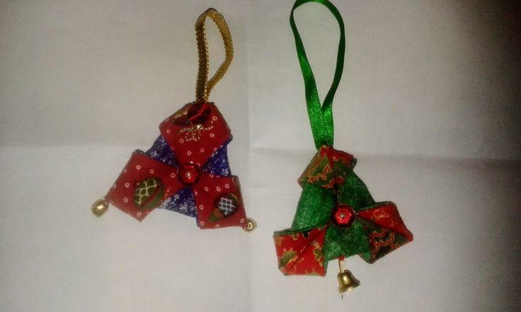 Christmas Triangles. Made at Tupton WI Craft. Thanks to Jenny Crowe.