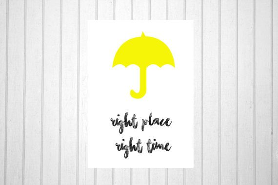 How i met your mother yellow umbrella card by CCProductsandDesigns