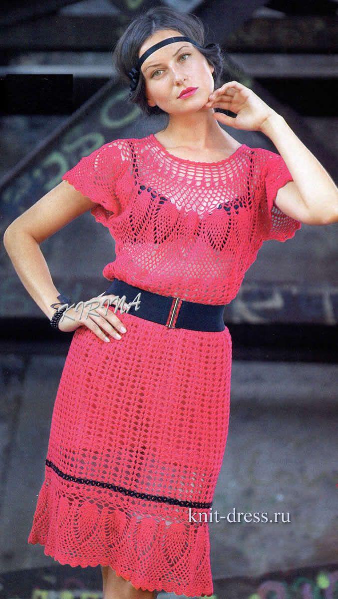 888 best vestidos crochet V images on Pinterest | Crochet dresses ...