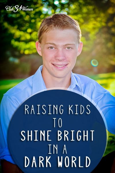 Offering a FREE eBOOK!! Are you raising kids who shine the light of Christ to this lost and dark world? Who are strong in their faith? Here's how you can encourage your children to have hearts set on heaven and feet planted firmly on solid ground! Raising Kids to Shine Bright in a Dark World ~ Club31Women