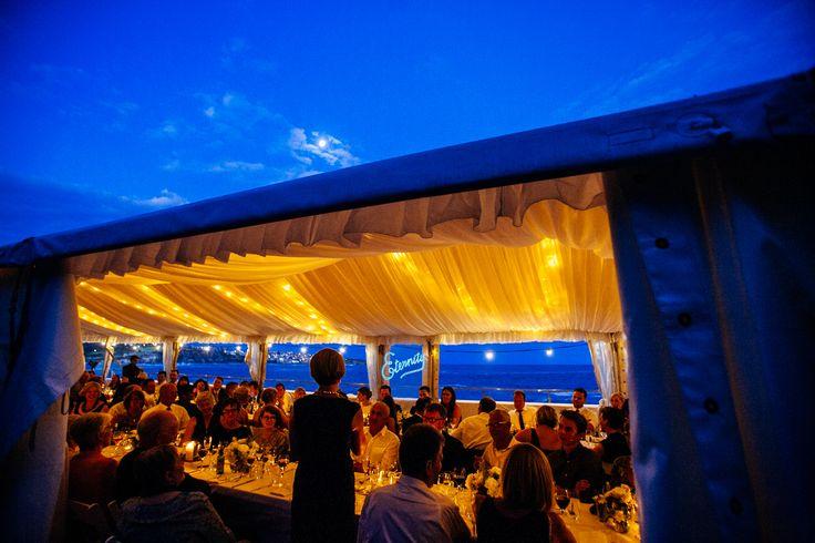 Eternity , a full moon and an Indigo sky ... A gorgeous wedding reception at Wylies baths, Sydney
