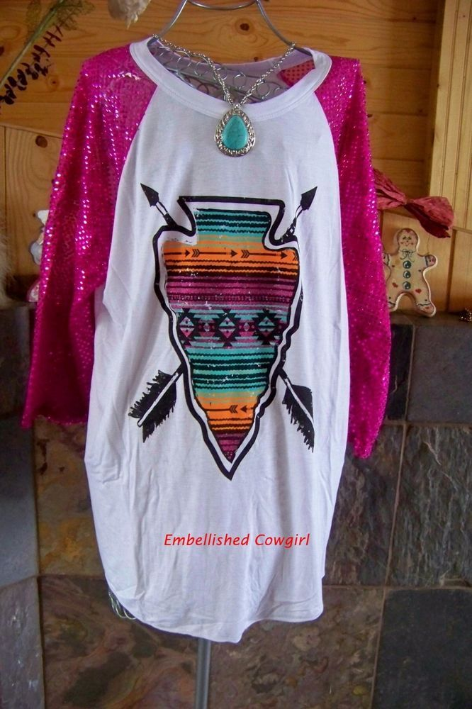 NEW SPARTAN SPARKLE Crazy train baseball t-shirt top woman size L, 3X #Unbranded #Western #Casual