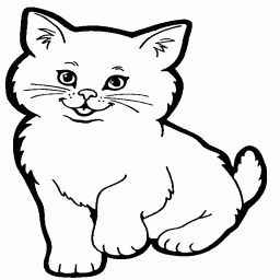 coloring pages for kids cat coloring page kitten cartoon kittens cutest cool