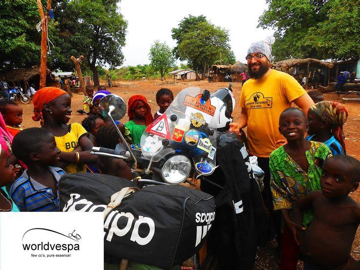 Togo / Benin / Nigeria - Around the world on a Vespa  #VespaClub Volos http://vespaclubvolos.com/