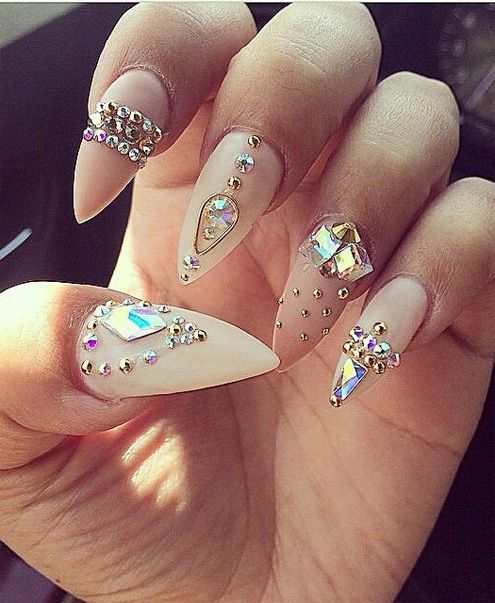 Nail Styles For Prom: Amazing Prom Pointy Nail Designs