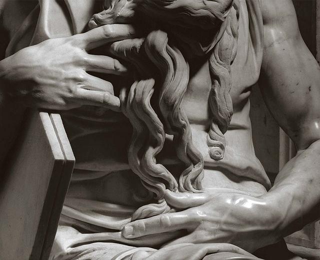 Detail of Michelangelo's Moses, by Aurelio Amendola