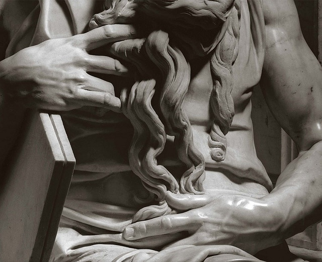 Detail of Michelangelo's Moses, by Aurelio Amendola