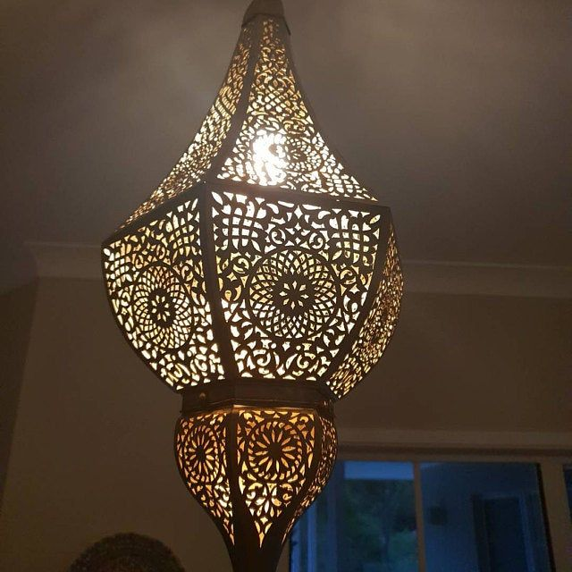 Set Of 2 Moroccan Brass Wall Light Wall Sconce Fine Etsy