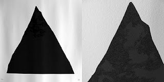 """108 - """"Black Triangle"""" - hand printed by Studiocromie.  2 colors (2 different black layers) screen printed on paper.  Limited to 13 numbered and signed pieces."""