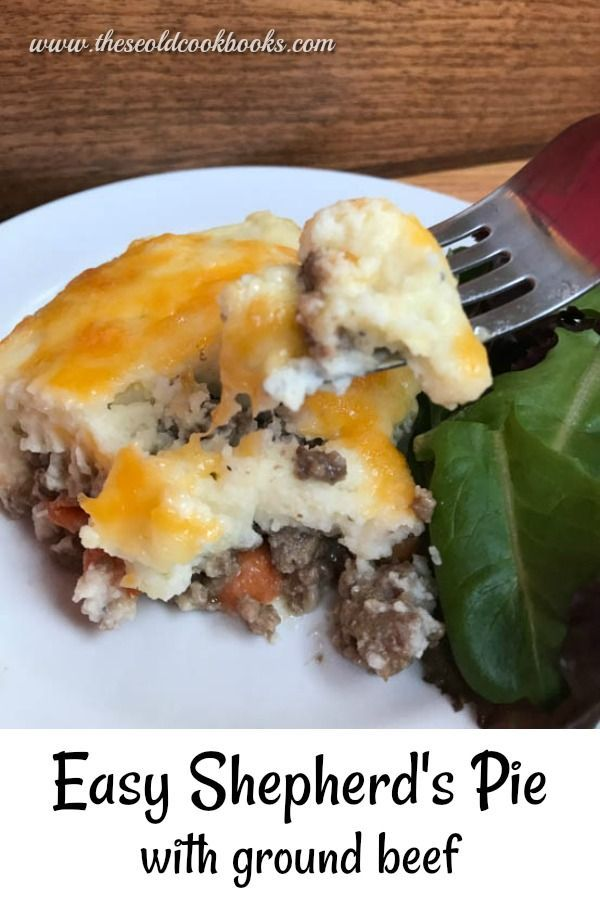 Shepherd S Pie With Ground Beef In 2020 Dinner Recipes Easy Family Dinner With Ground Beef Potatoe Casserole Recipes