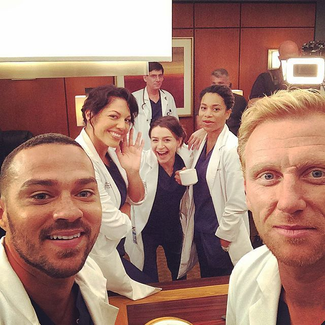 Jesse Williams, Sara Ramirez, Caterina Scorsone, Kelly McCreary, and Kevin McKidd