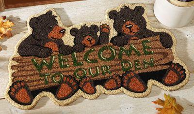 Bear Den Northwoods Home Coco Mat