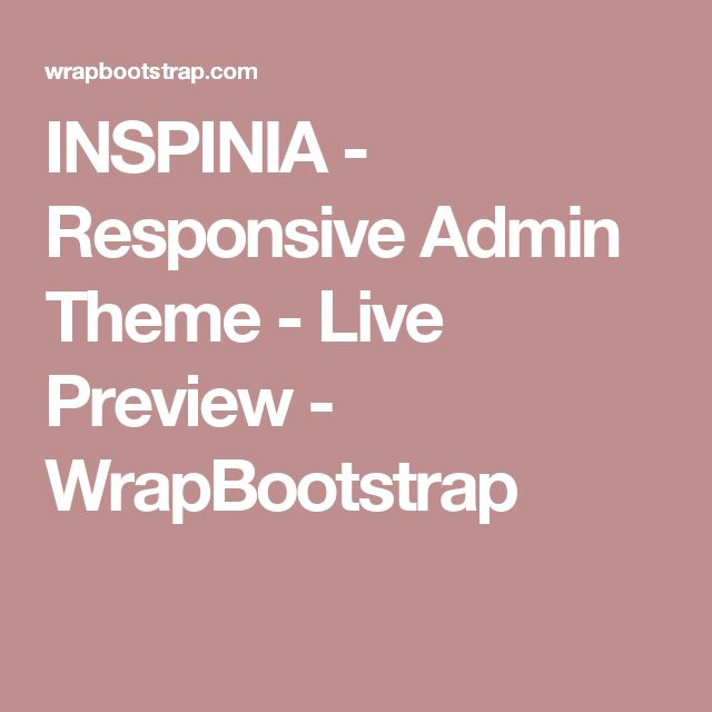 INSPINIA - Responsive Admin Theme - Live Preview - WrapBootstrap