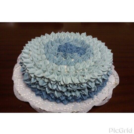 Birthday cake / Bolo de anos ♦ Mafalda ♦ Homemade / Feito em casa ♦Blue / Azul
