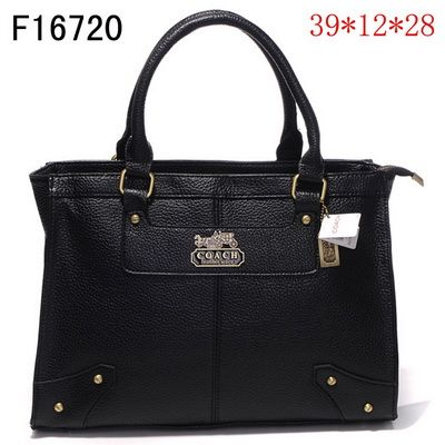 US2641 Coach Chelsea Leather Jayden Carryall F16720 - Black 2641