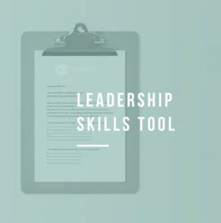Leadership Skills Tool. Do this worksheet.   @Salon Owner Solutions. Get Salon coaching and tools with our Salon Owner Strategist.