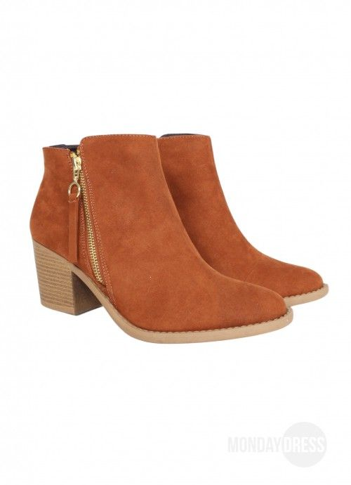 Almost Famous Booties in Tan