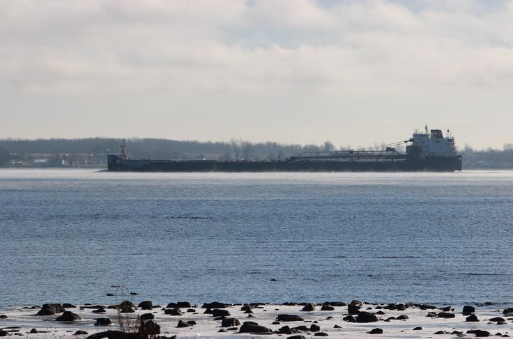 Algolake downbound passing Carleton Is. 10:35 , stay warm in the Islands today
