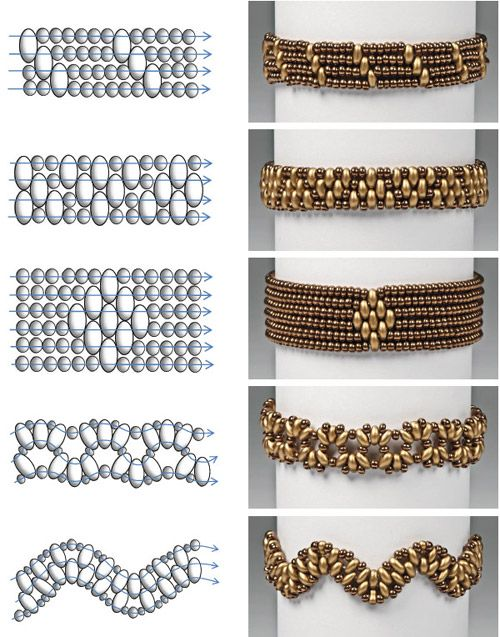 Preciosa Projects - Twin Bracelets  Easy and Simple Free Beading Pattern featured in Bead-Patterns.com Newsletter!