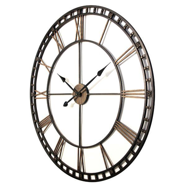 Oversized Methuen 39 Wall Clock With Images Oversized Wall