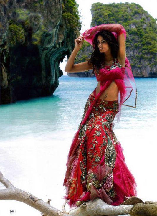 Vogue India-peacock lengha