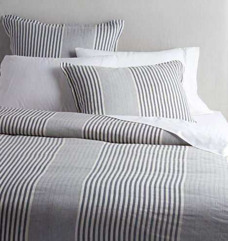 Addison Wide Stripe Duvet Cover & Shams    Rejuvenation
