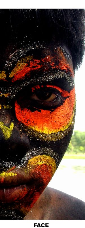 Face, by Subhendu Bagchi:  Found him in a preparation of a hindu ritual called Charak Puja, a festival when people worship Lord Shiva ...