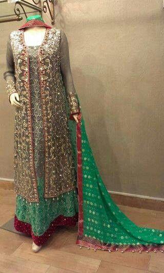 Lovely green Pakistani dress